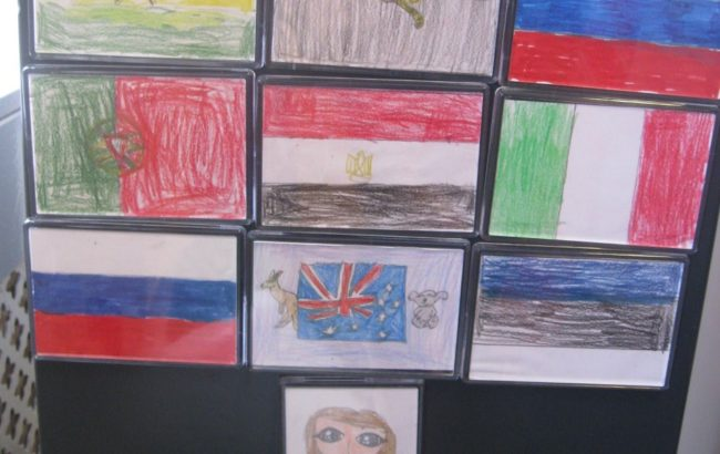 Form 3 have designed their own fridge magnets for International week