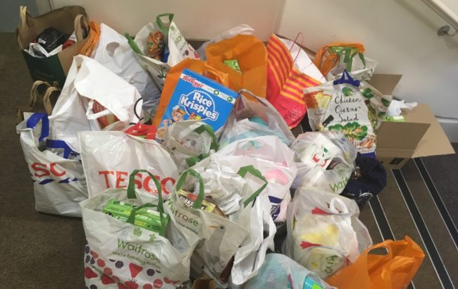 Donation to the Westminster Food bank