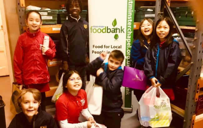 Pupil Council visit TheWestminsterFoodbank